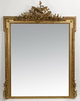 French Carved Giltwood Mirror, 19th C.