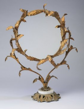 Early 20th C. Continental Vanity Mirror