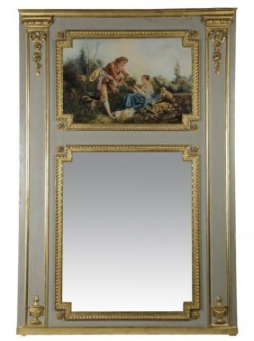 "88""h French Inspired Hand Decorated Trumeau"