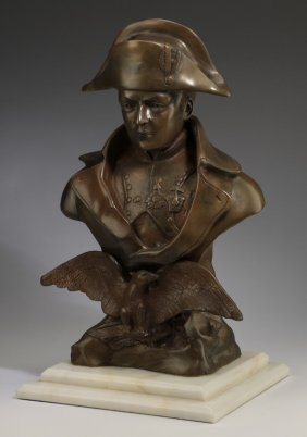 Bronze Bust Of Napoleon Bonaparte, 19th C.