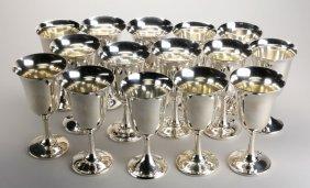 (15) Sterling Silver Goblets