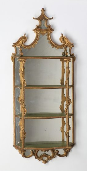 """Chinese Style Gilt Wood What-not Shelf, 58""""h"""