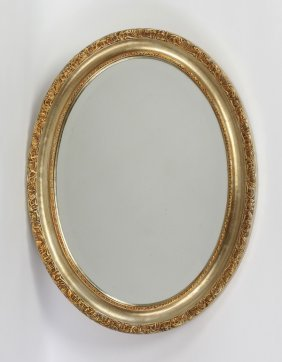 Italian Beveled Mirror With Carved Frame