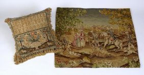 Needlepoint Tapestry And Pillow