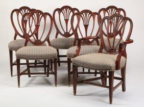 (6) Mahogany Hepplewhite Style Chairs