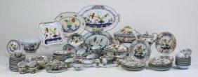 89-pieces, Italian Faience Dinnerware