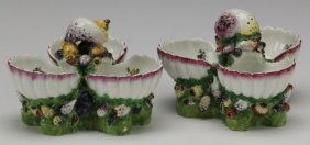 (2) 19th C.german Porcelain Shell-form Dishes