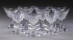 (10) Baccarat Champagne Glasses, Marked