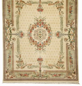 Hand Knotted Wool Area Rug, 8 X 10