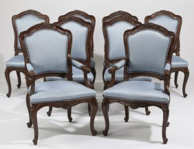 (8) French Provincial Upholstered Chairs