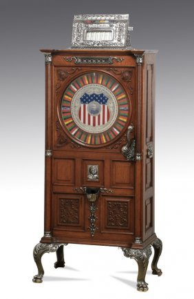 Dewey Upright 5 Cent Slot Machine, C 1906