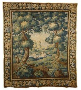 17th C. Flemish Verdure Tapestry