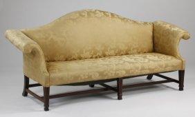Early 20th C. Camel Back Sofa
