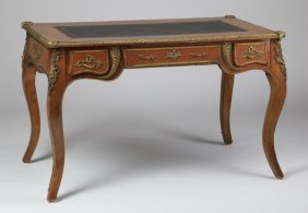 French Louis Xv Style Leather Top Desk