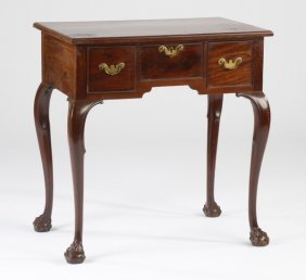 Early 20th C. Mahogany Side Table