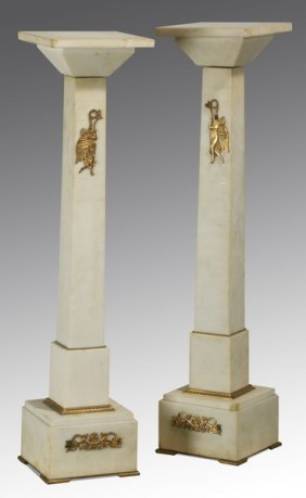 (2) 19th C. French Marble Pedestals