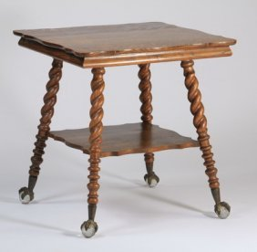 Victorian Barley Twist Side Table, 19th C.