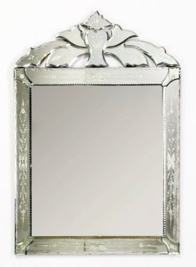 """Ventian Style Wall Mirror, 41""""h"""