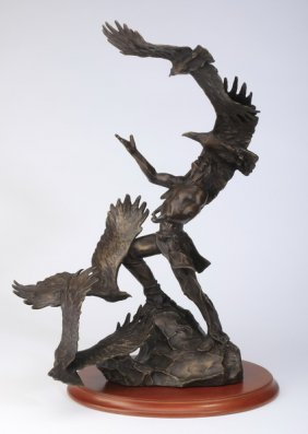 Figural Bronze Sculpture, Artist Signed