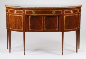 Hickory Furniture Inlaid Demilune Buffet