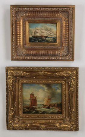 Two Signed O/c Maritime Paintings