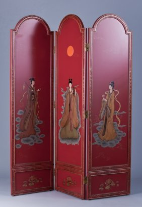 "Japanese 3-panel Screen, 60""w"