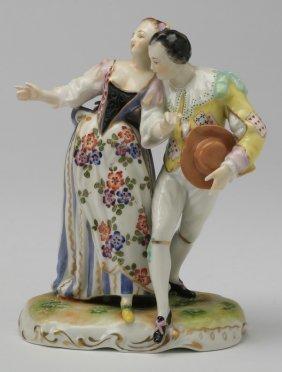 "19th C. Volkstedt Figurine, Marked, 6""h"