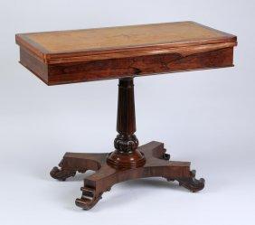William Iv Rosewood Games Table, Ca. 1830