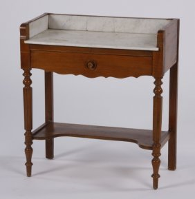 Marble Top Pine Washstand
