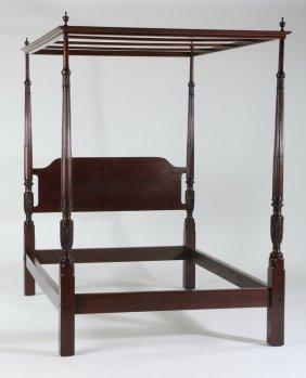 Mahogany Canopy Bed, Early 20th C.