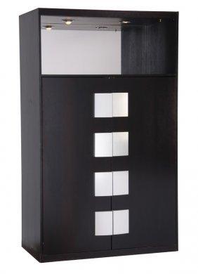 "Italian Moderne Ebonzied Cabinet, 81""h"