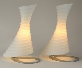 """(2) Contemporary Italian Table Lamps, 19""""h"""