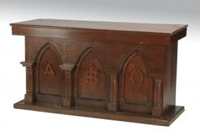 """Gothic Revival Style Carved Console, 60""""w."""