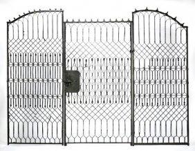 """Wrought Iron Garden Gate, 75""""h"""