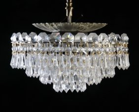 Schonbek 6-light Crystal Ceiling Fixture