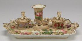Continental Porcelain Inkstand Set