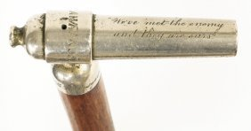 Late 19th C. Walking Stick, Engraved