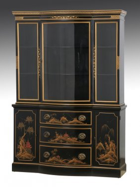 "Drexel Furniture Chinoiserie Breakfront, 49""w"
