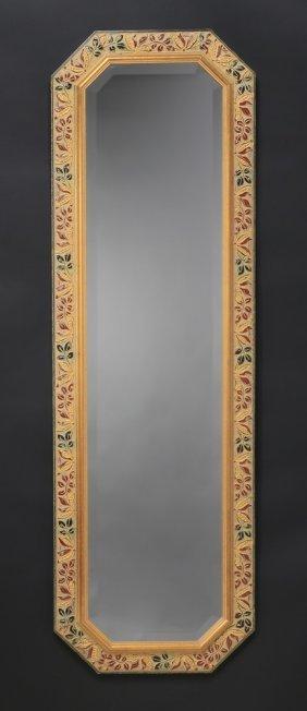 Italian Beveled Glass Mirror W/ Carved Frame