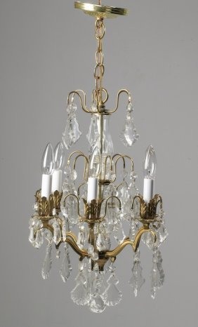 "French Crystal Chandelier, 20""h"