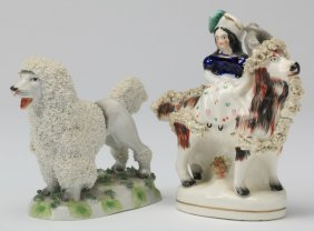 (2) Early 20th C. Staffordshire Style Figures