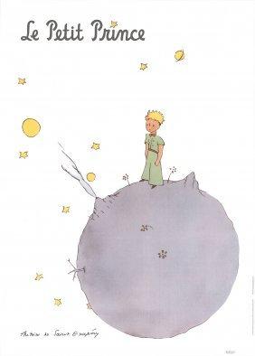 Saint Exupery Petit Prince Et Asteroide Poster