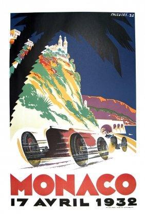 1995 Falcucci Monaco Grand Prix 1932 Lithograph