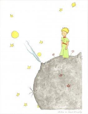 Petit Prince Et Son Asteroide B 612 (md) Litho