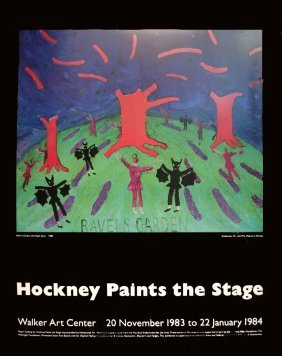 David Hockney - Ravel's Garden With Night Glow