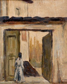 Giuseppe Abbati Napoli 1836 - Firenze 1868 Door Way
