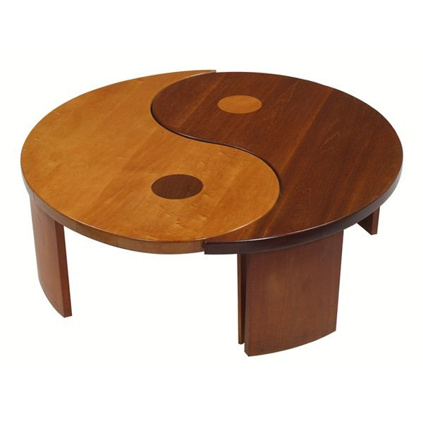 912 1950s yin yang coffee table lot 912 for Table yin yang basse