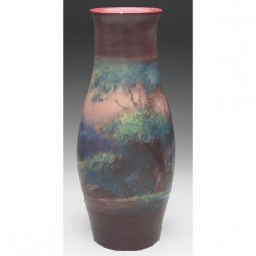 Rookwood Vase, Vellum, Painted By Fred Rothenbusch I