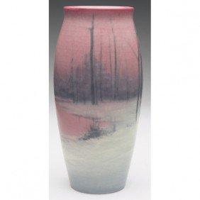 Rookwood Vase, Tapered Shape Vellum Glaze, Winter L