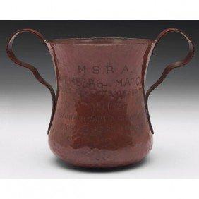 Arts And Crafts Hammered Copper Vase,
